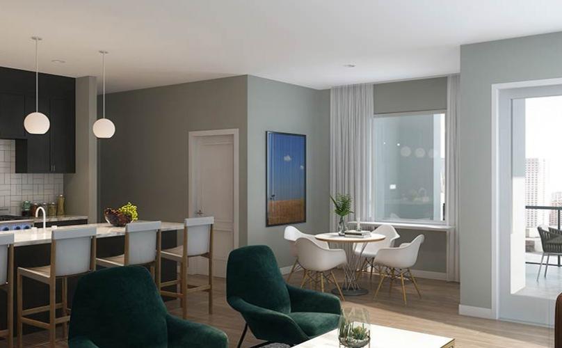 rendering of living room
